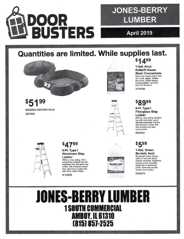Door Busters April 2019